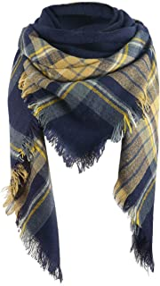 navy blue and gold scarf