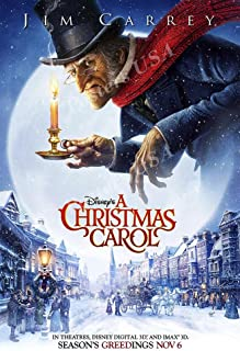 Posters USA Disney Classic A Christmas Carol Jim Carrey Movie Poster GLOSSY FINISH - FIL700 (24
