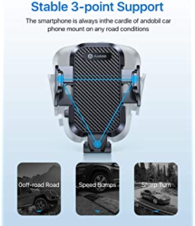 Andobil Car Phone Mount Ultimate Smartphone Car Air Vent Holder Easy Clamp Cradle Hands-Free Compatible with iPhone 1...
