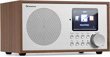 auna Silver Star • Radio Internet • Mini Radio • Radio DAB+/FM • WiFi • Bluetooth • USB • AUX-In • Line Out • 8W RMS • Display HCC • Telecomando • Quercia