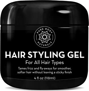Hair Gel for Men, Natural Ingredients and Chemical Free with Hydrating Aloe For Firm, Healthy Hair by Pure Body Naturals, ...