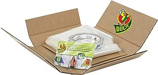 Duck Brand Indoor 10-Window Shrink Film Insulator Kit, 62 in. x 420 in., Brown Box Packaging, 285233