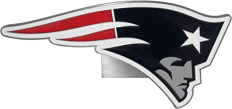 Siskiyou New England Patriots Large Hitch Cover Class II and Class III Metal Plugs