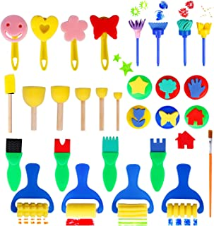 Nature Stamps Childrens Roller Stamper Painting Brushes Pack of 3