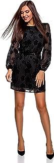 Ultra Women's Chiffon Dress with Flock Print