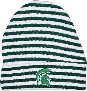 Michigan State University Spartans Striped Newborn Knit Cap