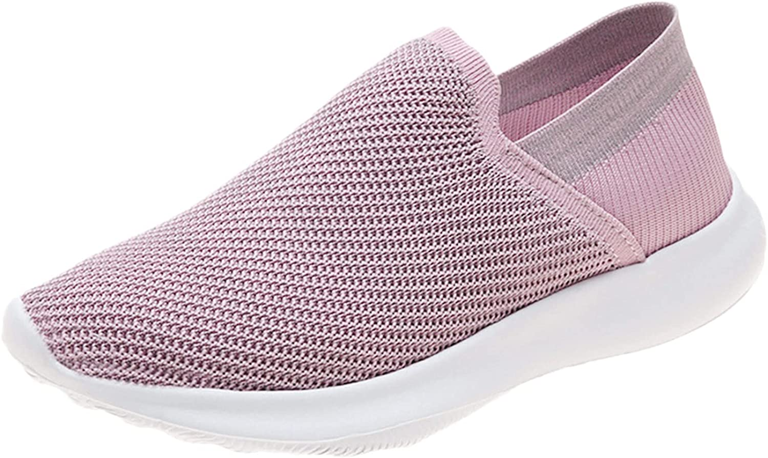 SCIHTE Walking Shoes for Woman Comfortable Slip on Sock Sneakers Lightweight Breathable Mesh Tennis Athletic Shoe