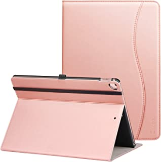 ZtotopCase for iPad Pro 12.9 inch 2017/2015 (Old Model, 1st & 2nd Gen), Premium Leather Folding Stand Folio Cover with Auto Wake/Sleep, Document Card Slots and Multiple Viewing Angles,Rose Gold