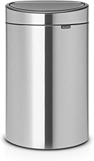 Brabantia Touch Bin New, 10 Gallon Matt Steel Fingerprint Proof