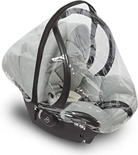 Car Seat Rain Cover – Universal Vinyl Weather Shield Fits Doona and Most Infant Carrier Brands – Easy Access Zipper, Ventilation Holes – Waterproof, Snow and Dust Proof - by Bedford Baby