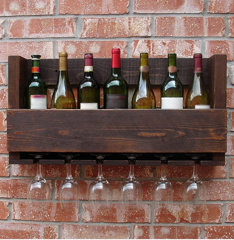CivilWeaEU- American Village Wall Weinfass Walled Massivholz Weinregal Restaurant Beige Cup Inhaber Regal -Regal
