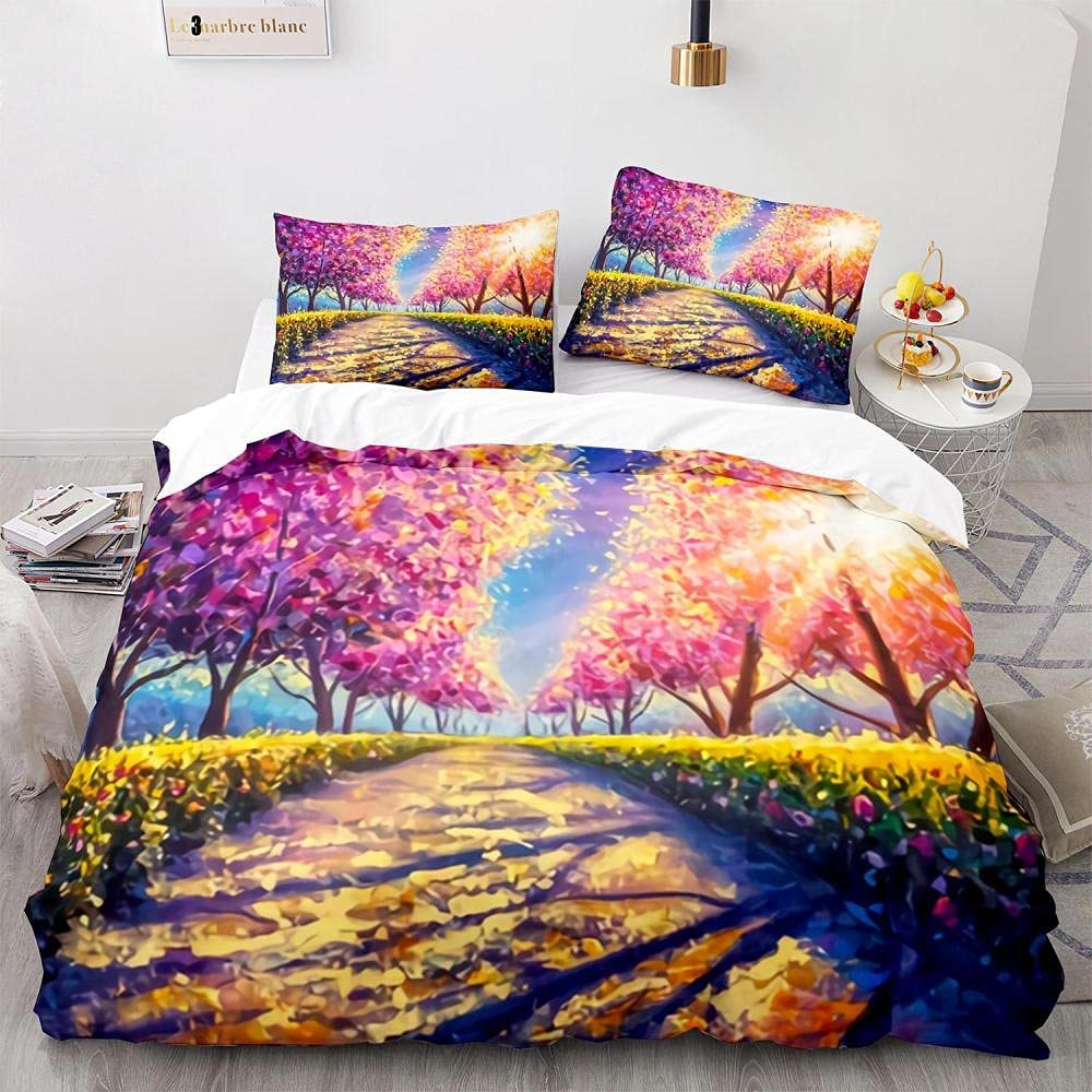 LHNGOD Road Don't miss the campaign Flowers Contemporary Oil Se Painting Art Duvet Cover lowest price