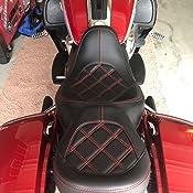 Kamenda Babero trasero de piel para motocicleta asiento solo, apto para Touring Electra Glide Road King FLHTK 2008-2018