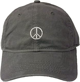 Adult Peace Sign Embroidered Deluxe Dad Hat
