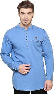 Kuons Avenue Men's Regular Fit Denim Kurta Shirt