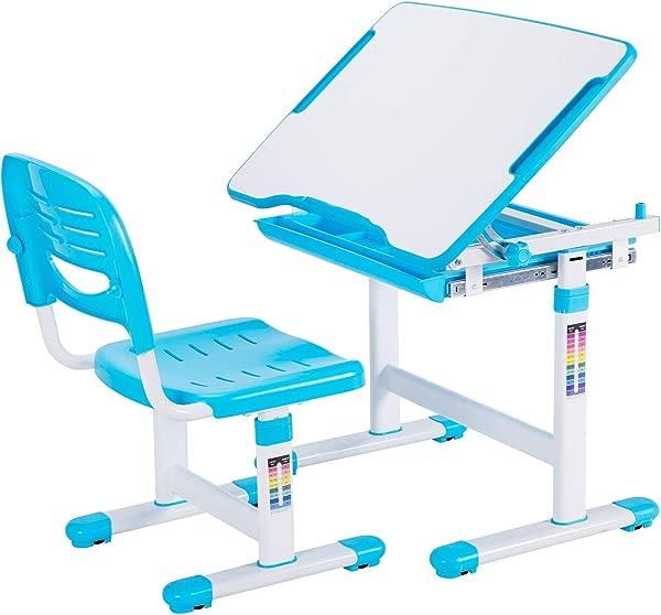 VIVO Height Adjustable Children S Desk And Chair Set Blue Renewed