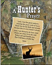 Dicksons A Hunter's Prayer With Deer Camoflauge Forest 8 x 10 Wood Wall Sign Plaque