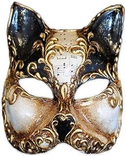 Venetian Half Face Cat Mask Gatto Arabesque for Women