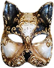 Venetian Half Face Cat Mask Gatto Arabesque for Women