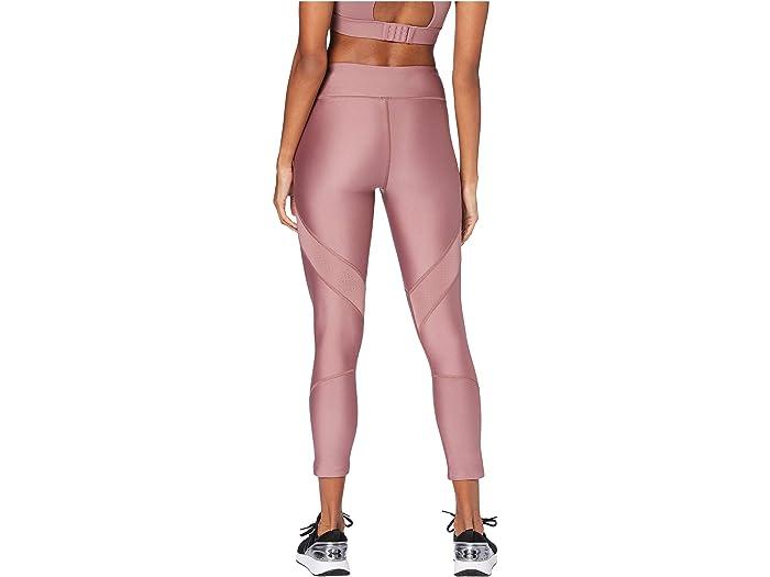 Under Armour Heatgear® Shine Perforation Ankle Crop Hushed Pink/hushed Pink/dash Pink