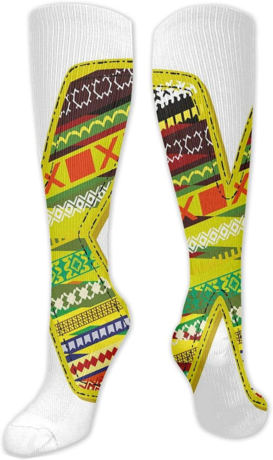 Compression Ranking TOP14 High Socks It is very popular Artistic Oriental Caricat Styled Letter X