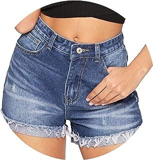 High-Waist Lady Summer Jeans Booty Shorts Feminino Workout Denim Short Pants Vintage Ripped