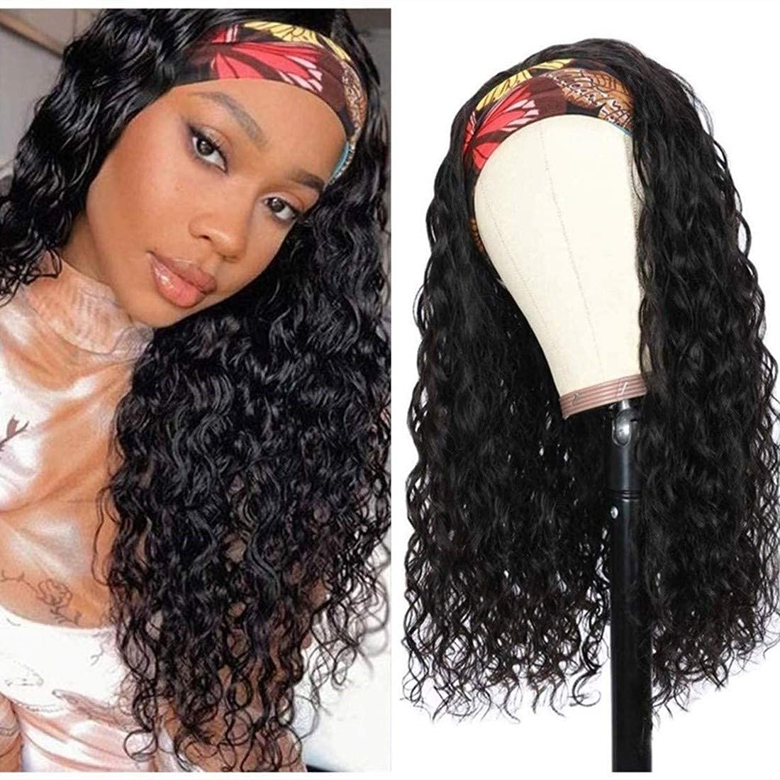 SEAL limited product BLISSHAIR Headband Wig Latest item Human Hair Water for Wome Black Wigs Wave