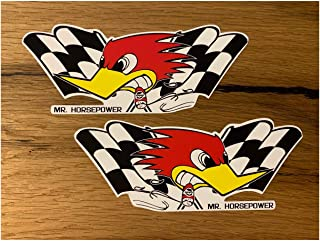 MG364 / 2X Hot Rod Aufkleber je 13,5 x 5cm RatRod Retro Sticker V8 Old School Bike Vintage Racing V6 USA