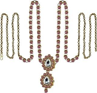 Vidhya Kangan Belly Chains for Women (Pink) (bro352)