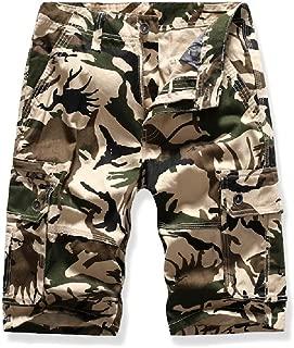Mogogo Men's Big Casual Multi Pockets Camouflage Fashion Twill Cargo Shorts