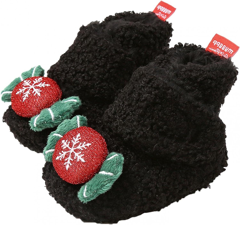 Toddler Boy's Soft Plush Slippers Cartoon Warm Winter House Shoes Cozy Fleece Booties