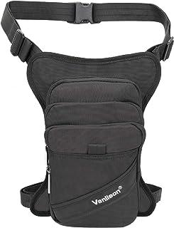 Vanlison Polyester Leg Bag Thigh Pack Purse Tactical Fanny Leg Pouch Bag Motrocycle Bag Waterproof Black