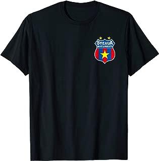 Historical Steaua Bucuresti Romanian Soccer T-shirt