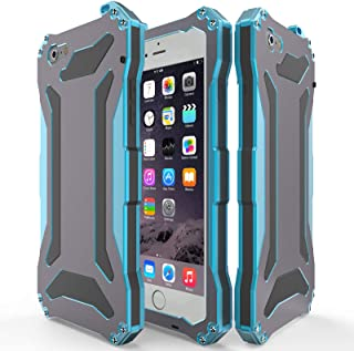 iPhone 5S SE Metal case, 360 Full Body Protective Zenova Slim Luxury Aluminum Alloy Extremely Protective Water Resistant Shockproof Military Bumper Heavy Duty Cover Shell (Blue)