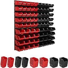 Opbergsysteem wandrek 78 x 78 cm, gereedschapshouders, stapelboxen opbergkast, extra sterke wandplaten, uitbreidbaar rek