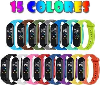 comprar comparacion Monuary 15 Piezas Correas para Xiaomi Mi Band 4 / Mi Band 3 Pulsera Reloj Silicona Banda para Xiaomi Mi Band 4 Reemplazo -...