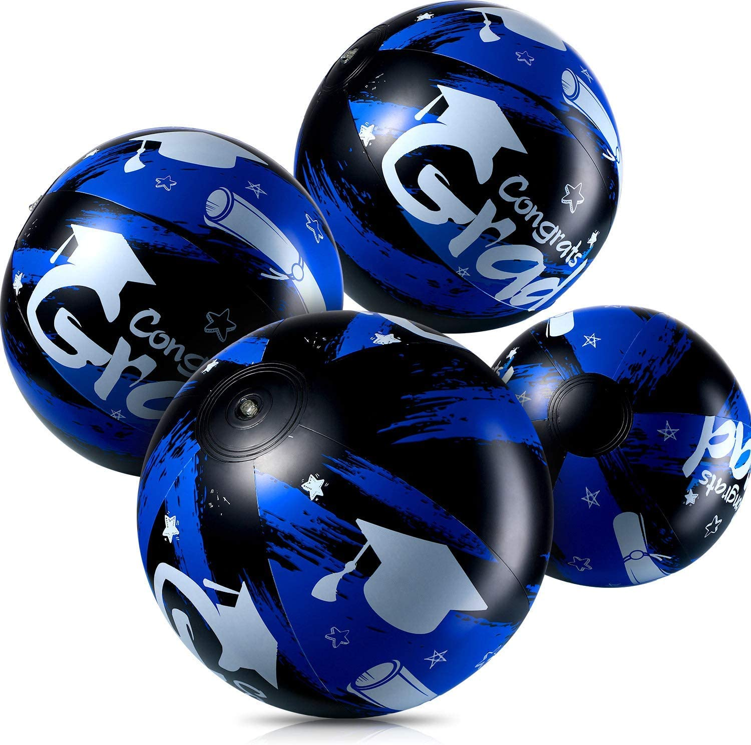 4 Pieces Inflatable Beach Balls Max 76% Cheap sale OFF Blue Party Graduation for Jumbo