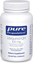 Pure Encapsulations - Ubiquinol-QH 100 mg - Hypoallergenic Supplement - Active Antioxidant Form of CoQ10-60 Softgel Capsules