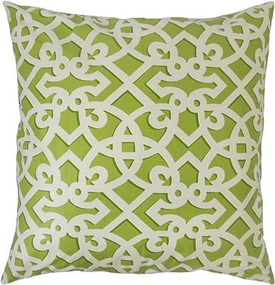 Licorice The Pillow Collection P18-WAV-750480-FRANCISFRET-LICORICE-C100 Valerian Geometric Pillow
