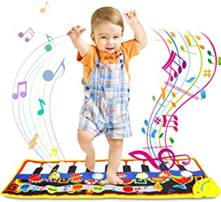 ONME Piano Mat, Soft Baby Early Education Portable Music Piano Keyboard Carpet, Safe Electronic Keyboard Play Blanket, Col...