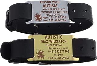 LazrArt Premium Autism Autistic Aspergers Bracelet - Free Dark Laser Engraving Custom Personalization
