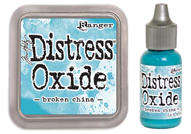 SPECIAL BUNDLE Ranger Tim Holtz Distress Oxide Ink Pad BROKEN CHINA + Reinker