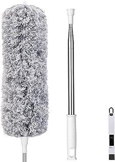 Vicloon Plumero de Limpieza, Plumero telescópico, Microfibra Plumero con 2 en 1 Ranuras Cepillo de Limpieza, Extensible Lavable con 245cm Barra Telescópica para Ventanas Persianas Muebles Coches
