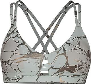 Hurley Women's Quick Dry Max Compression Printed Triangle Bikini Surf Top