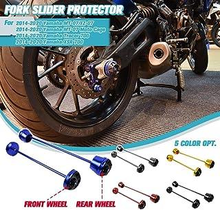 XX eCommerce 2 PCS Vorderradhinterradgabelschutz Frame Slider Crash Protector Fallschutz für Yamaha MT 07 FZ 07 Moto Cage Tracer 700 XSR 700 2014 2020 2015 2016 2017 2018 2019 (Schwarz)