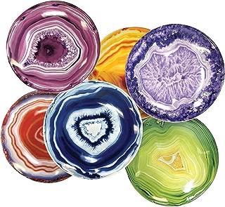 Agate Ceramic Serving Plates - Set of 6