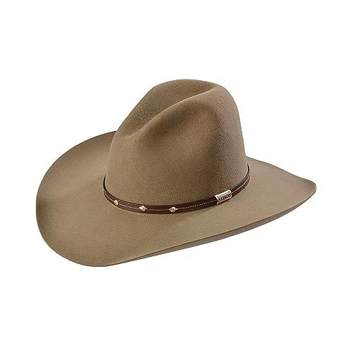 19c1fd9d5491f Stetson Men s 4X Tan Mine Buffalo Felt Cowboy Hat - Sbslvm-5036 Stone