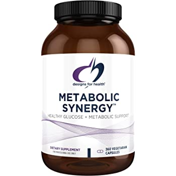 Designs for Health Metabolic Synergy - Multivitamin, Mineral with B-Complex, Magnesium + Zinc for Blood Sugar Support (360 Capsules)