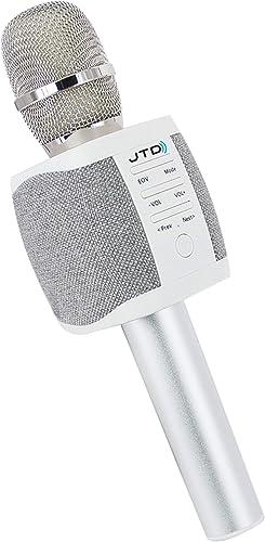 JTD Wireless Karaoke Microphone Speaker Recorder with 2x5W Dual Speakers Sing Listen Record Phone Tablet Computer 3.5mm MicroSD [JTD-008]