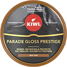 KIWI Parade Gloss Prestige, high quality shoe shine Polish, Helps Light Brown leather to shine, Metal Tin, 50 ml